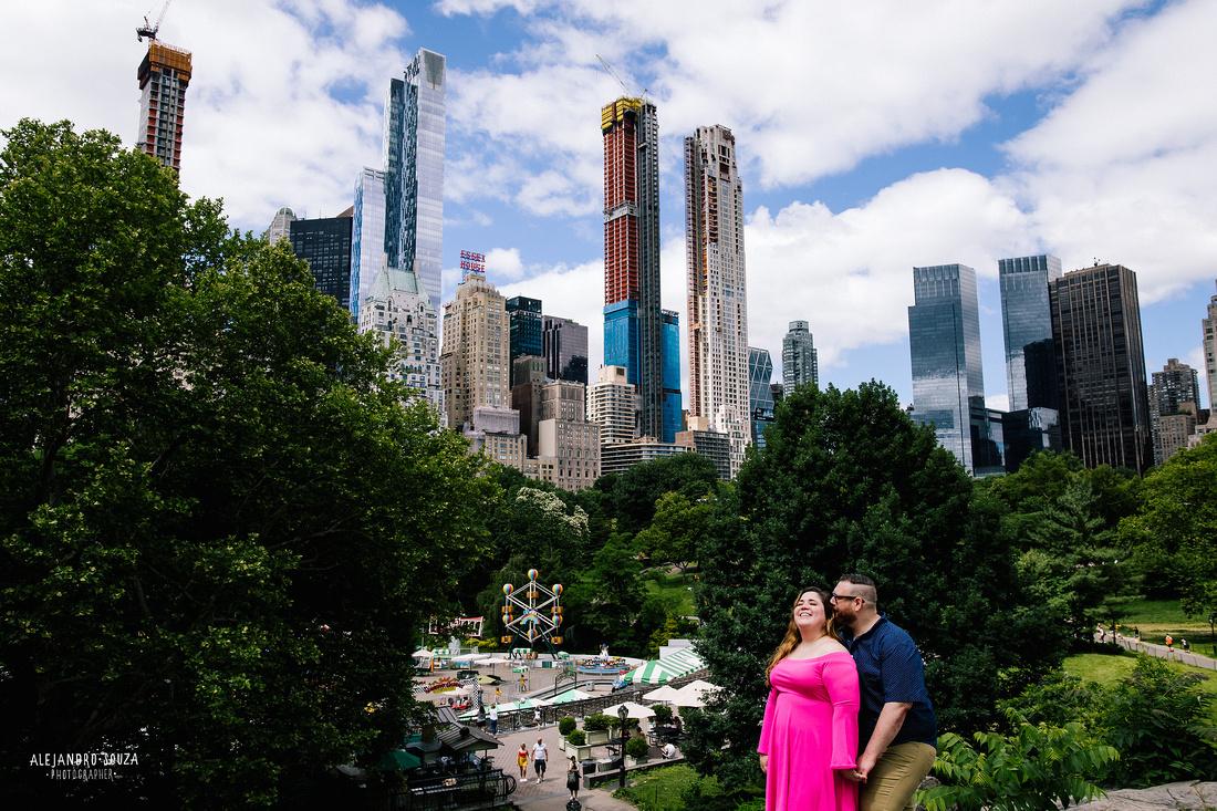 new york engagement session